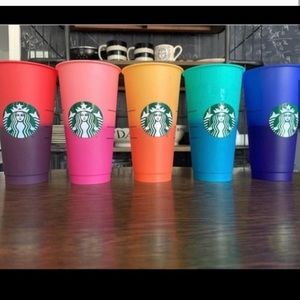 STARBUCKS🌈2020 5 VENTI COLOR CHANGING TUMBLERS